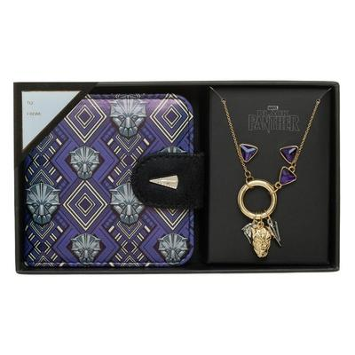 Black Panther Jewlery and Mirror Set