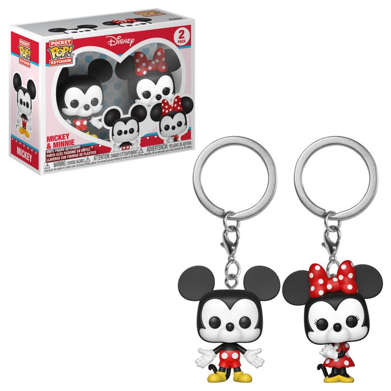 Pocket POP! Keychain: Disney Mickey and Minnie 2 Pack