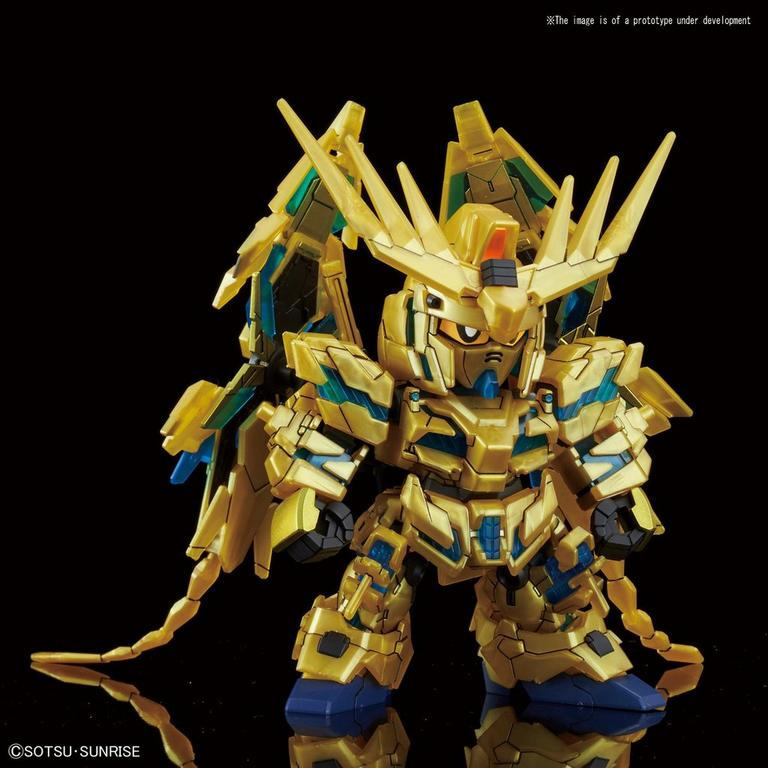 Mobile Suit Gundam NT Unicorn Gundam 03 Phenex (Destroy Mode) SD Gundam Cross Silhouette Model Kit