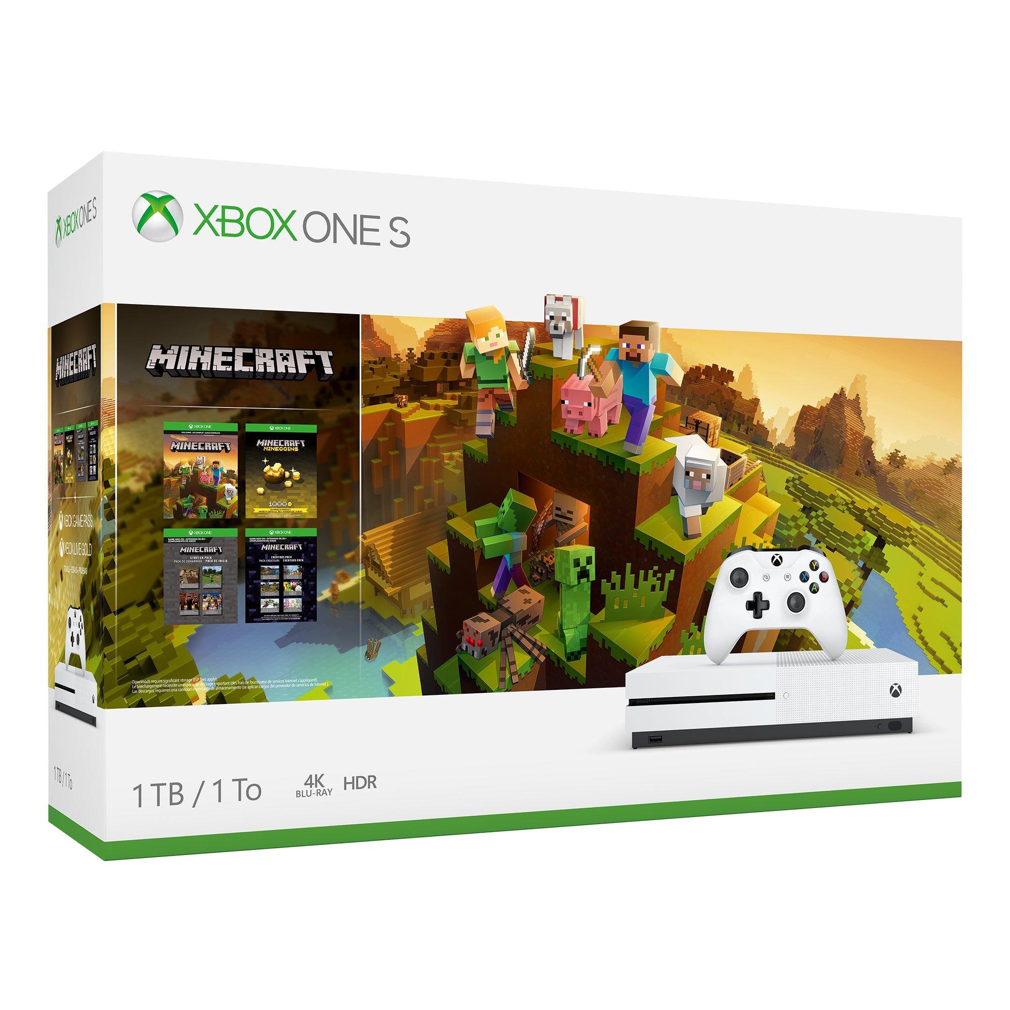 Xbox One S Minecraft Creator Bundle 11TB  Xbox One  GameStop
