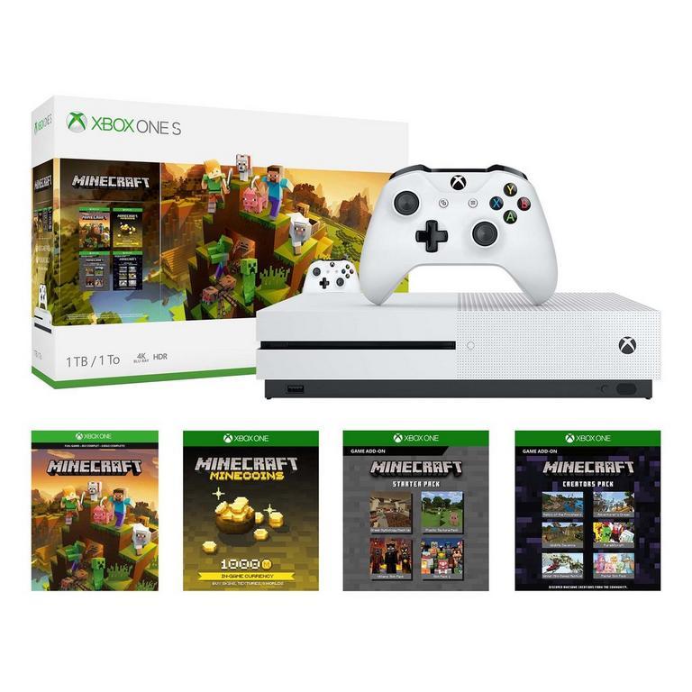 Xbox One S Minecraft Creator Bundle 1TB