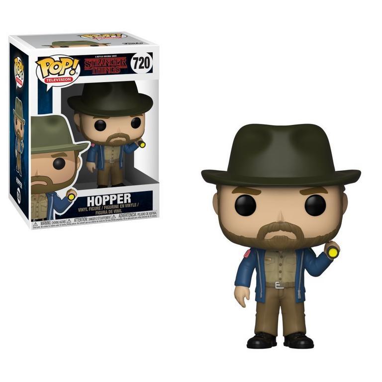 Funko POP! TV: Stranger Things Hopper with Flashlight