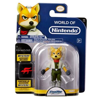 Star Fox World of Nintendo Fox McCloud with Arwing Action Figure