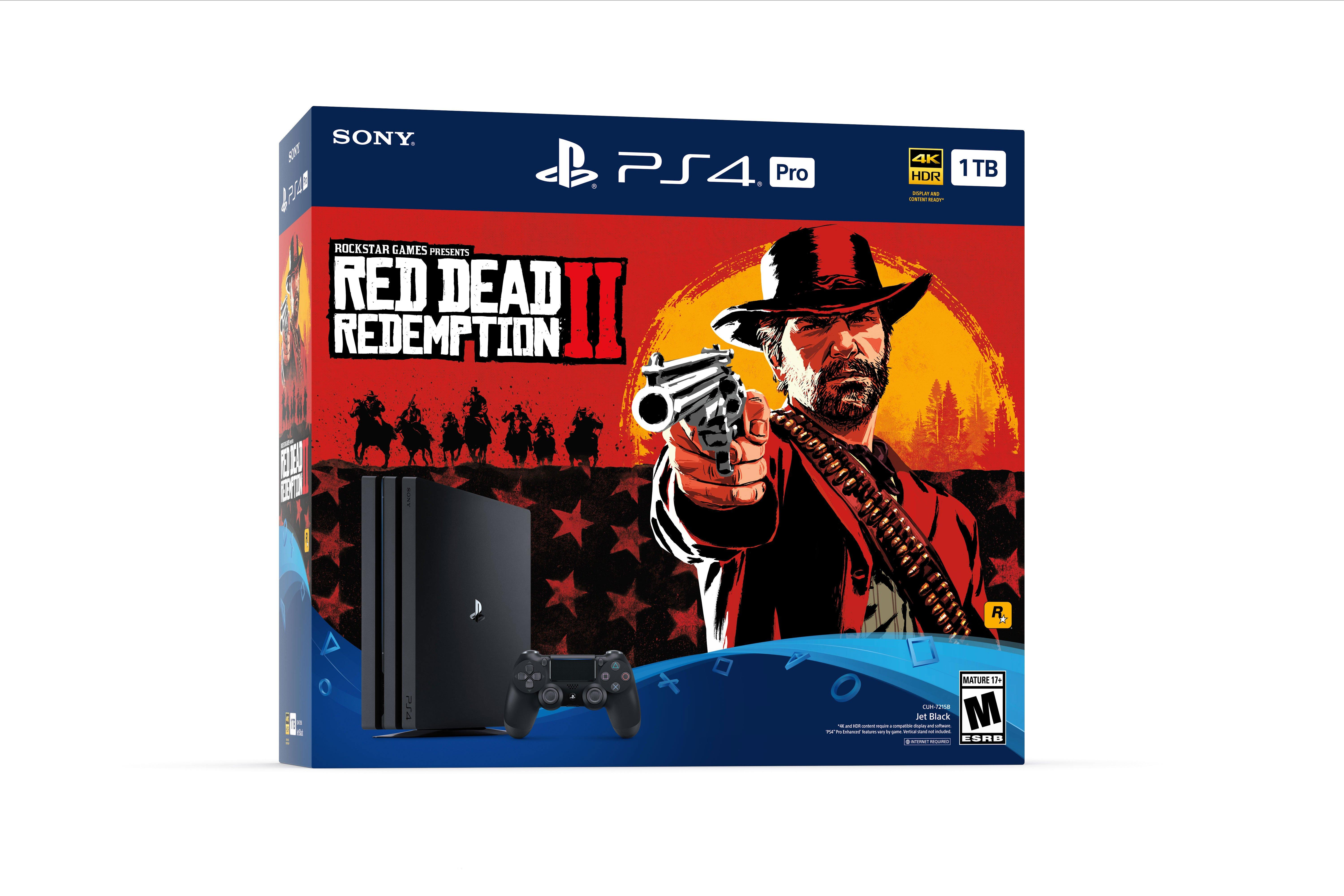 PlayStation 4 1TB Pro - Red Dead Redemption 2 System Bundle | PlayStation 4  | GameStop