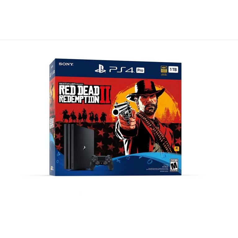 PlayStation 4 Pro Red Dead Redemption II System Bundle 1TB