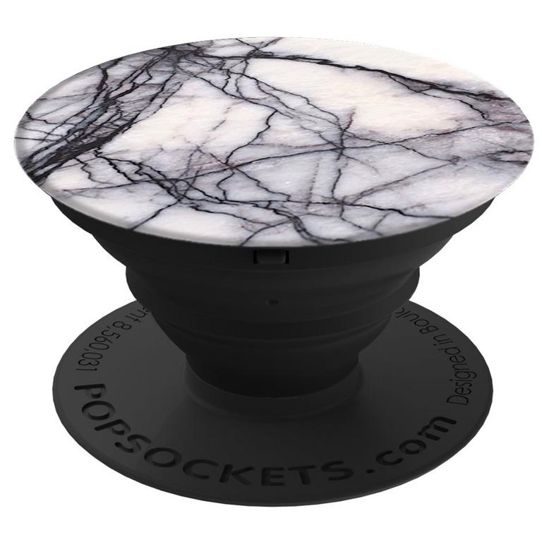 PopSocket White Marble Phone Grip and Stand