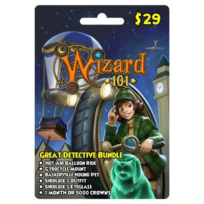 Wizard 101 Great Detective Bundle Digital Card