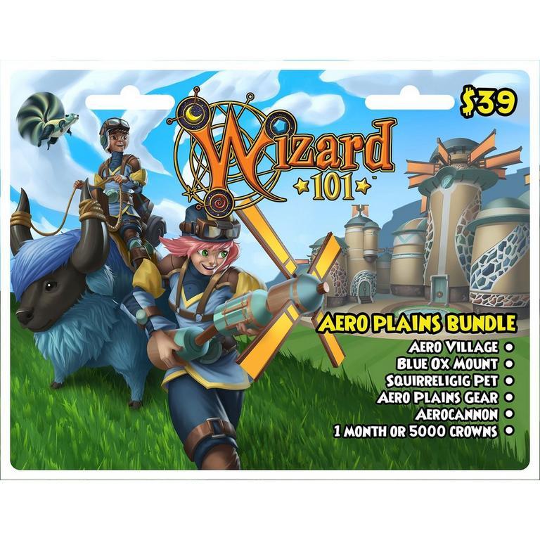 Wizard 101 Aero Plains Bundle Digital Card