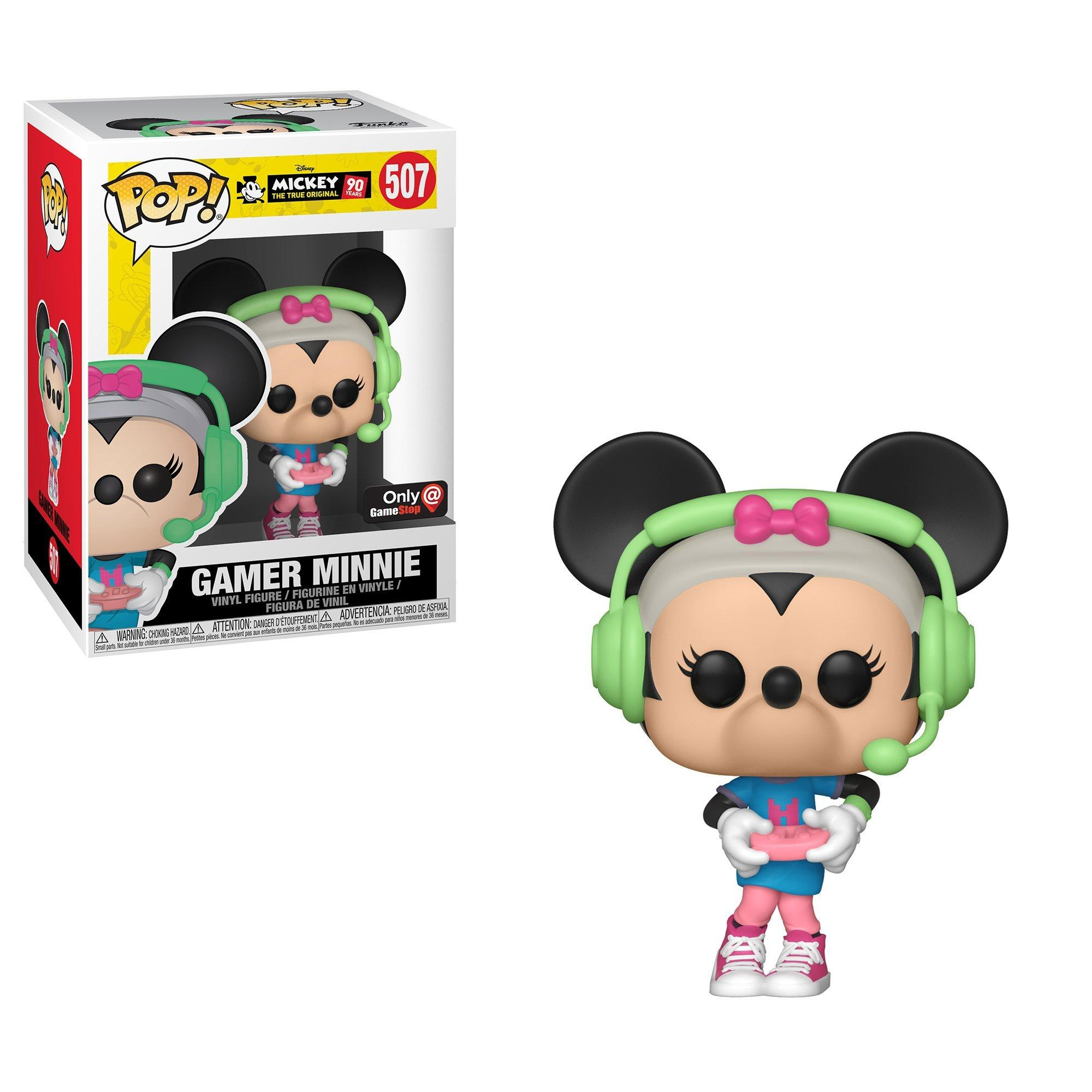 Pop Disney Mickey 90 Years Gamer Minnie Only At Gamestop Gamestop