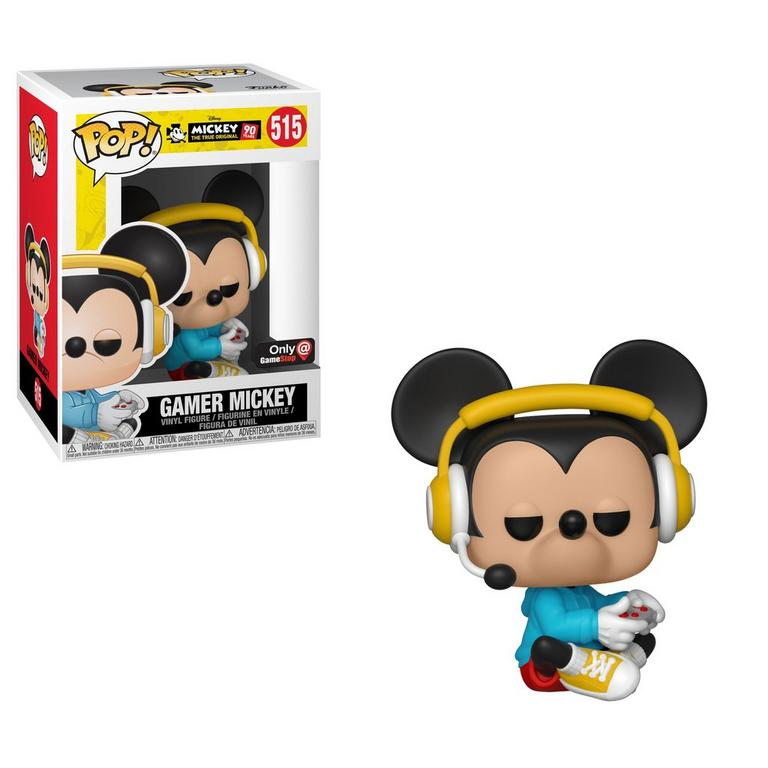 POP! Disney: Mickey's 90th - Gamer Mickey (Sitting) - Only at GameStop