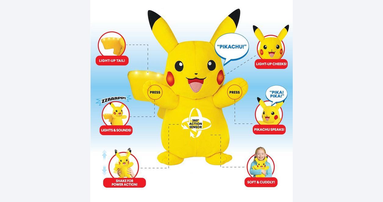 Pokemon Power Action Pikachu Plush