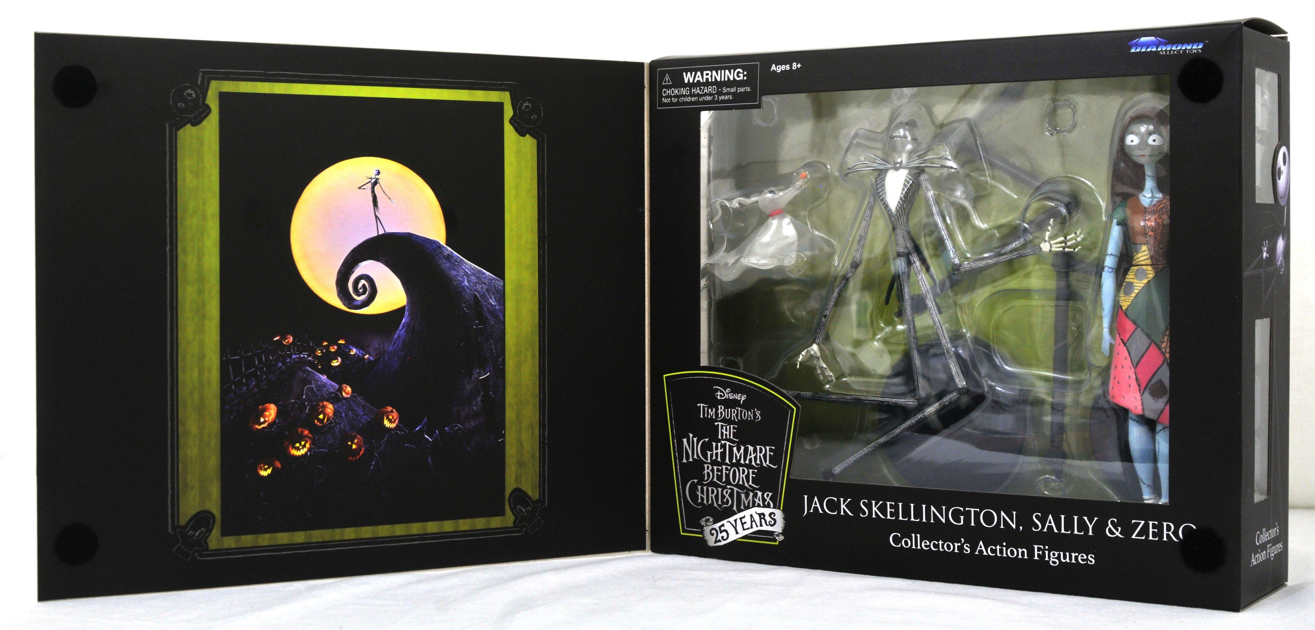 25th Anniversary Collectable Action Figure 25 Years Jack Skellington Disney Nightmare Before Christmas DIAMOND SELECT TOYS