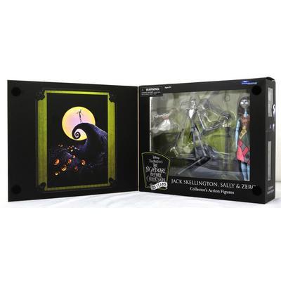 The Nightmare Before Christmas 25 Years Jack Skellington, Sally, and Zero Figures 3 Pack