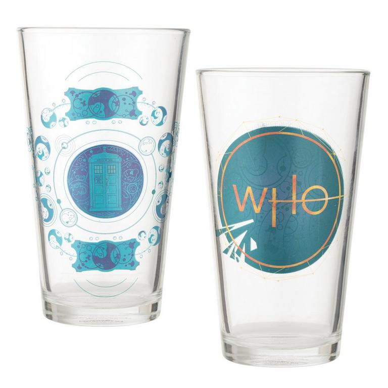 Doctor Who Season 11 Logo Pint Glass 2 Pack