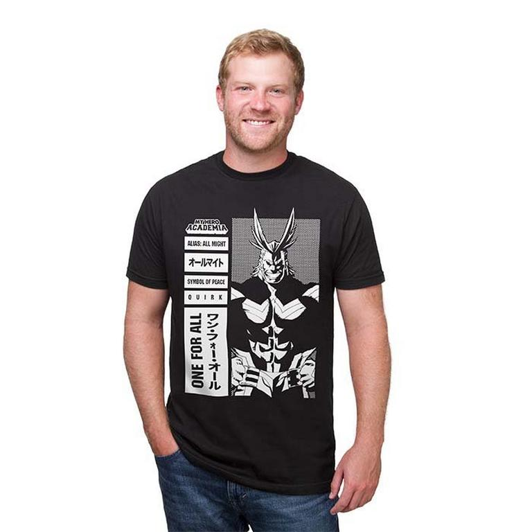 My Hero Academia All Might One for All Black T-Shirt - 3X-Large