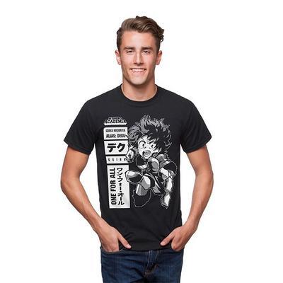 My Hero Academia Deku One for All Black T-Shirt