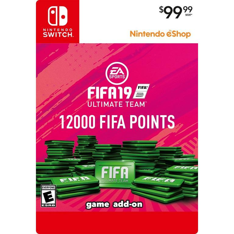 FIFA 19 12000 Ultimate Team Points Digital Card