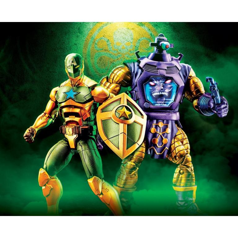 Marvel Legends Series Hydra Supreme Leader Captain America and Arnim Zola Action Figure 2 Pack