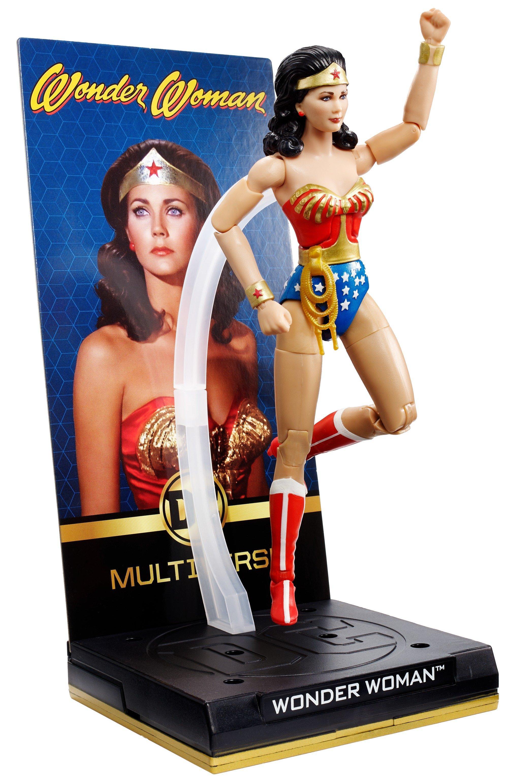 DC Multiverse Wonder Woman Figure Lynda Carter 1970s TV Show Mattel