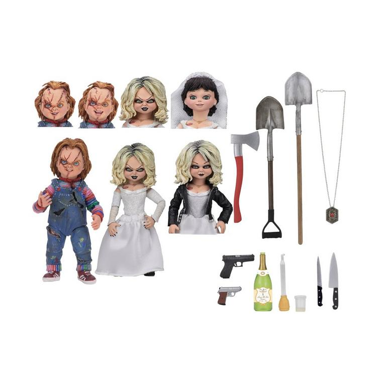 Bride of Chucky Ultimate Chucky and Tiffany Action Figure 2 Pack