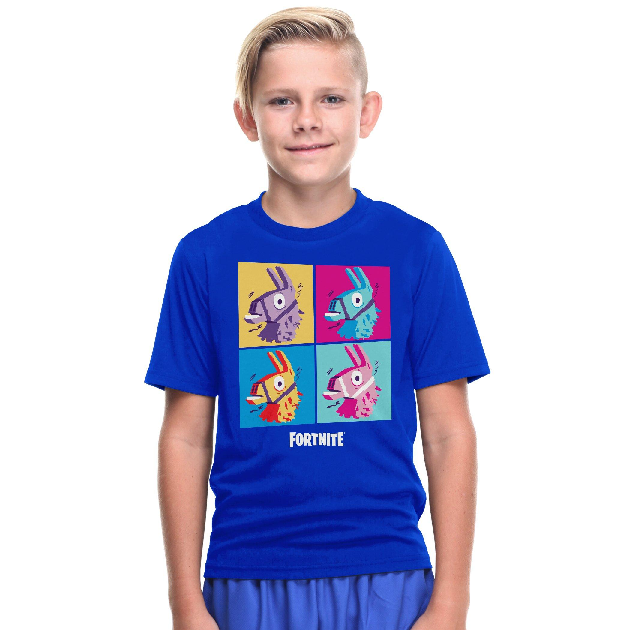 Fortnite Llama Logo Children /& Babies T-Shirt Mottled Grey,