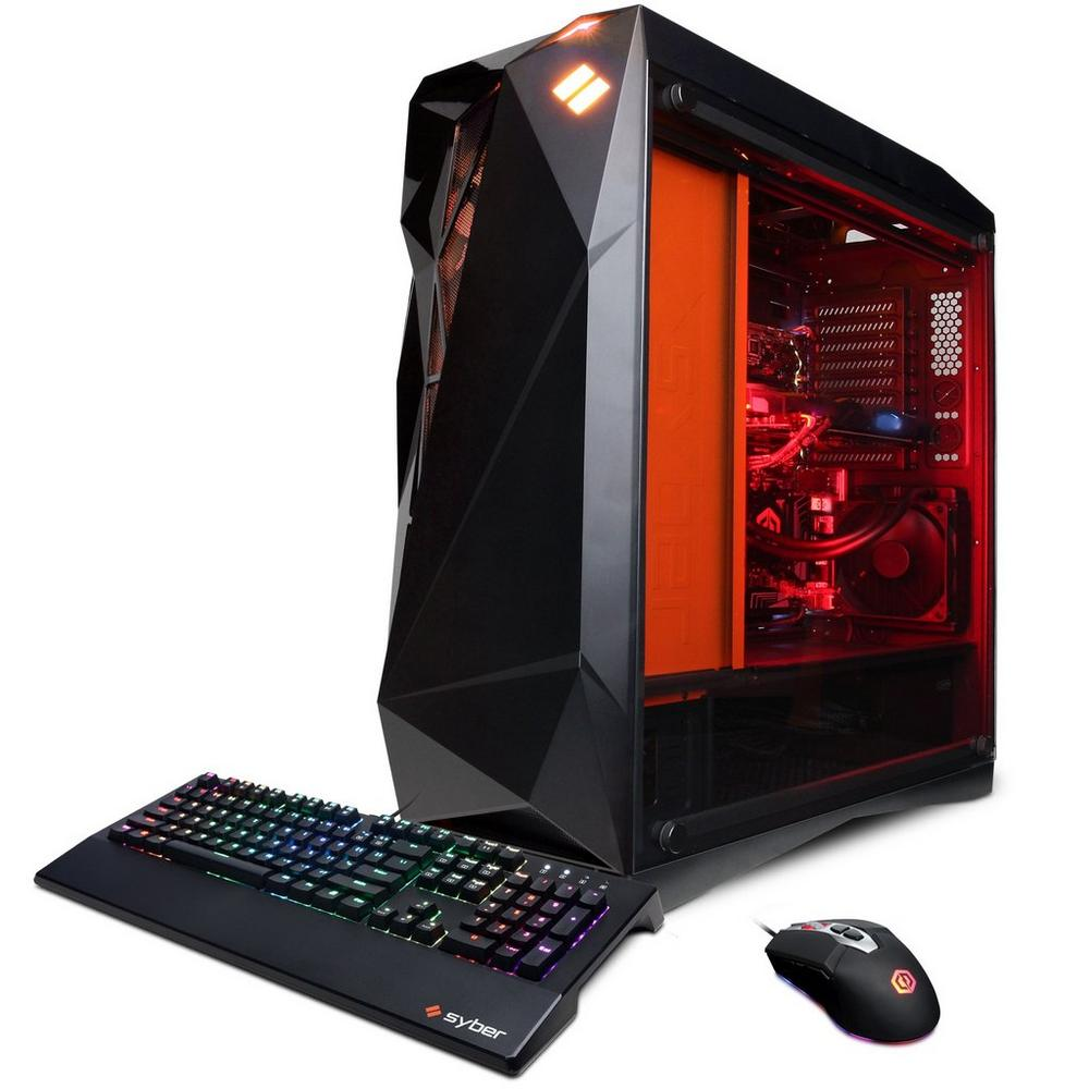 CYBERPOWERPC Syber Forti SFG9DX with Intel i7-9700K 3 6GHz Gaming Computer  | PC | GameStop