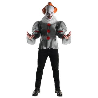 IT Pennywise Shirt & Mask Costume Kit