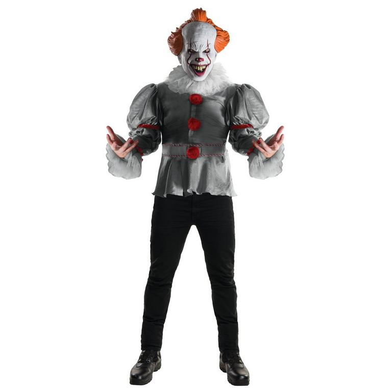 IT Pennywise Shirt and Mask Costume Kit