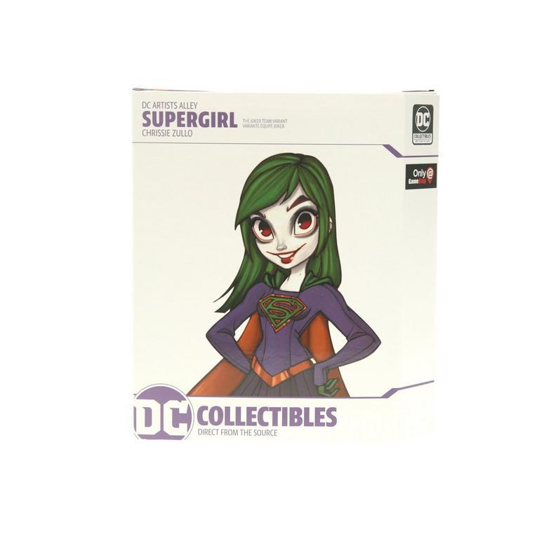 Supergirl by Chrissie Zullo Team Joker Variant DC Artists Alley Statue Only at GameStop