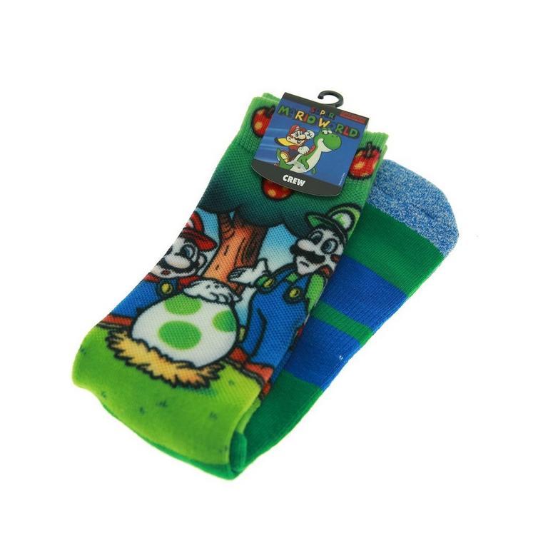 Super Mario Christmas Stocking.Super Mario World Sublimated Socks Gamestop