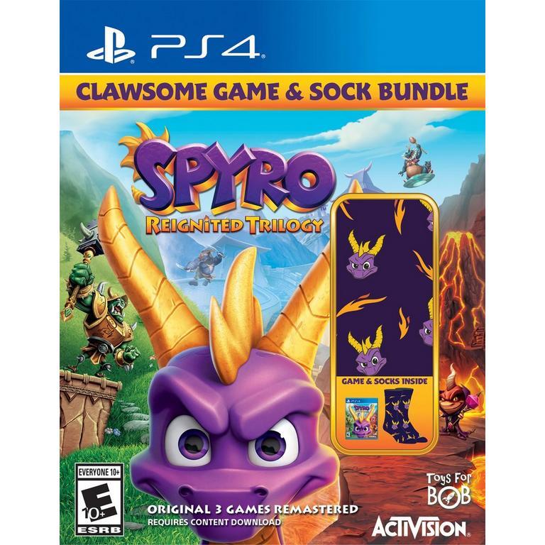 Spyro Reignited Trilogy Clawsome Game & Sock Bundle