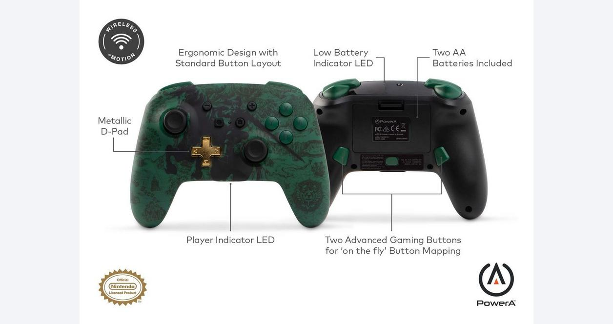 PowerA Enhanced Wireless Controller for Nintendo Switch - Link Silhouette |  Nintendo Switch | GameStop