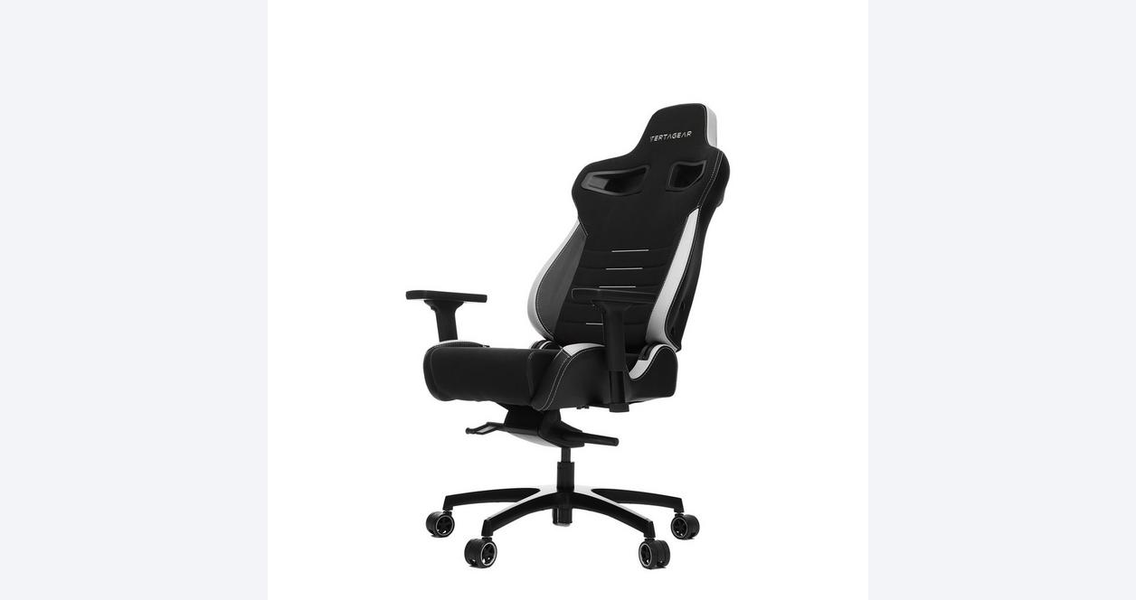 P-Line PL4500 Black and White Racing Series Gaming Chair
