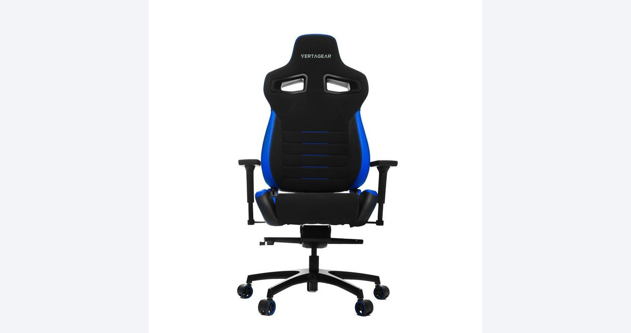 P-Line PL4500 Black and Blue Racing Series Gaming Chair