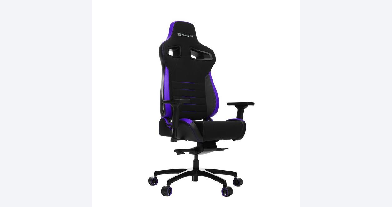 P-Line PL4500 Black and Purple Racing Series Gaming Chair