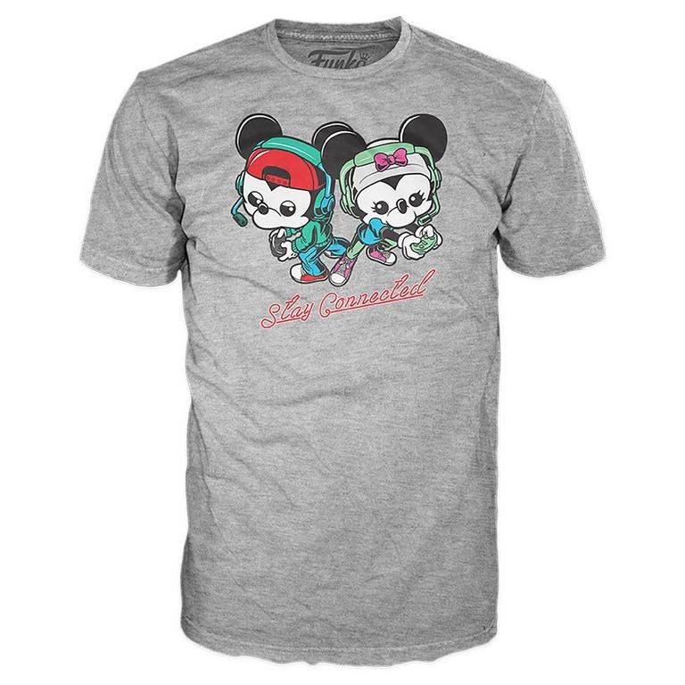 POP! Tee: Gamer Mickey and Minnie Gaming T-Shirt