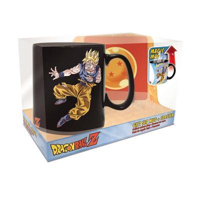 Dragon Ball Z Goku and Buu Heat Change Mug and Coaster Gift Set