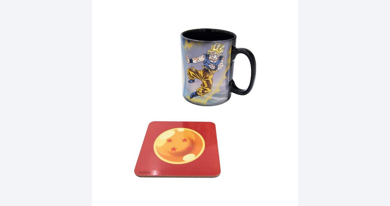Dragon Ball Z Goku and Buu Heat Change Mug and Coaster Gift Set