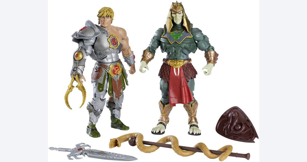 Masters of the Universe Classics Snake Armor He-Man and Battle Armor King HSSSS Action Figure