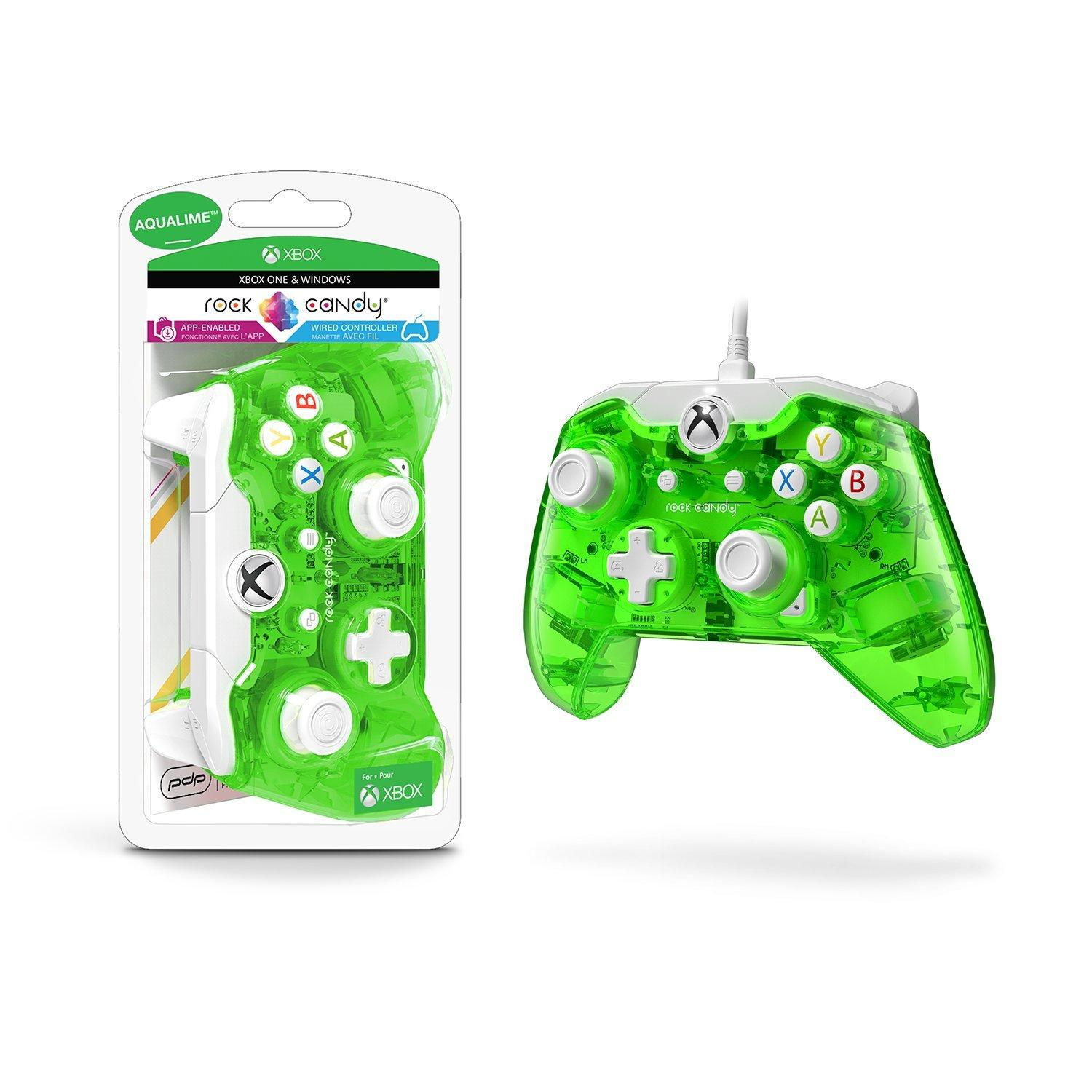 Xbox One Rock Candy Wired Controller - Aqualime | Xbox One | GameStop