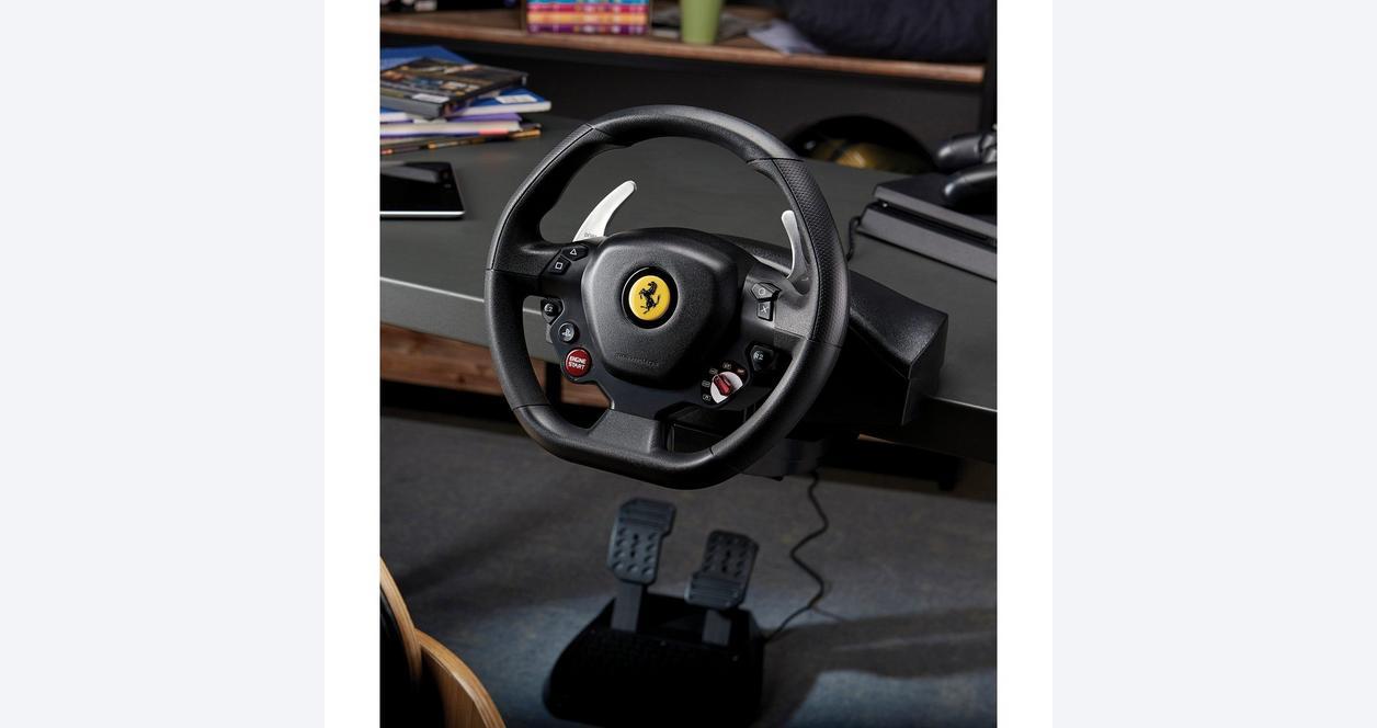 T80 Ferrari 488 GTB Edition Racing Wheel for PlayStation 4