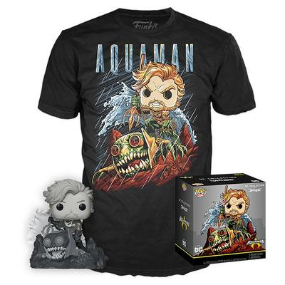 POP! and Tee: Justice League Aquaman by Jim Lee T-Shirt
