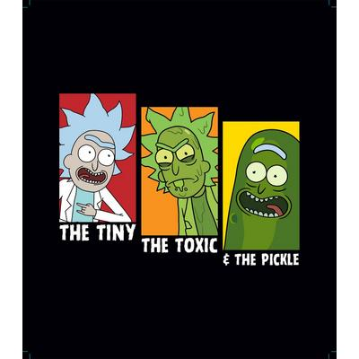 Rick and Morty Tiny Toxic and Pickle Rick T-Shirt