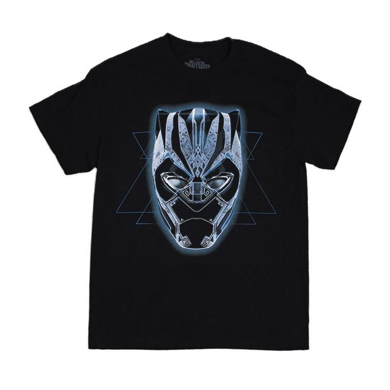 Black Panther Mask Black Mens T-Shirt