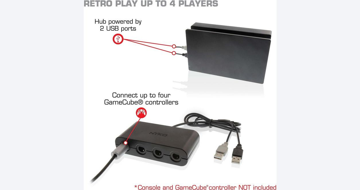 Retro GameCube Controller Hub for Nintendo Switch