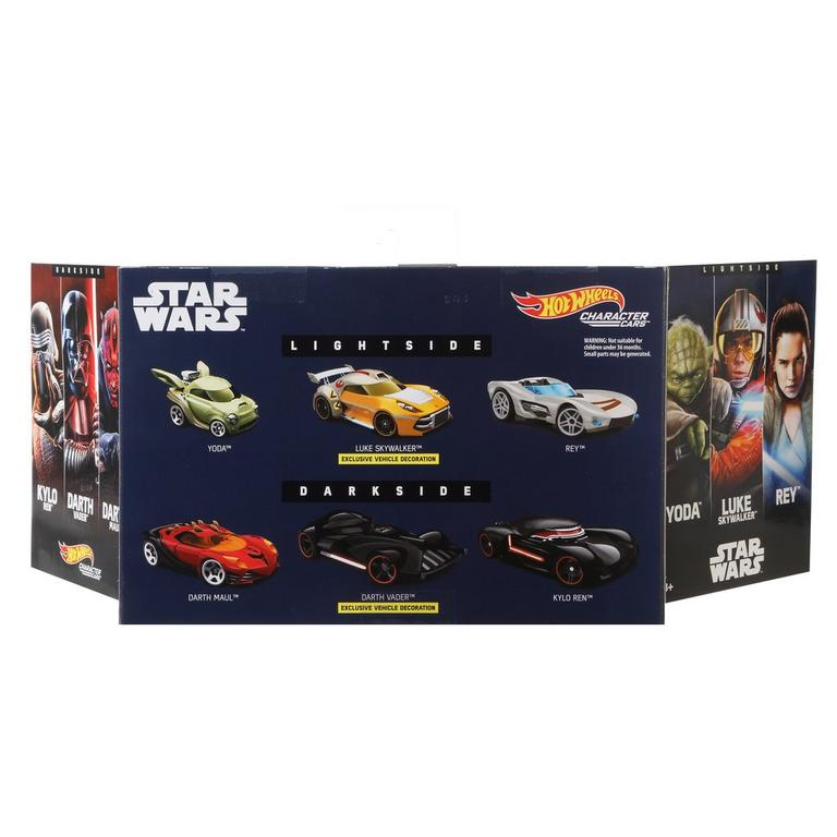 Hot Wheels Star Wars Light Side VS. Dark Side Vehicle 6-Pack