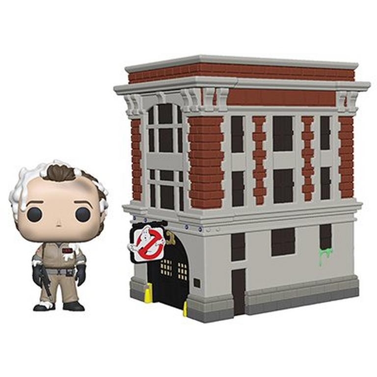 Funko POP! Town: Ghostbusters Dr. Peter Venkman with Firehouse