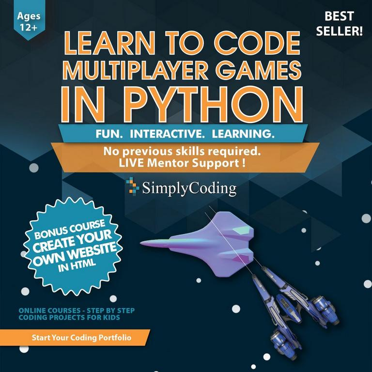 Learn to Code Multiplayer Games Python eCard