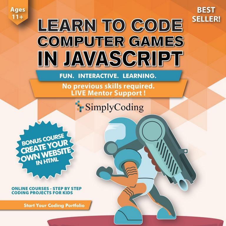 Learn to Code Computer Games in Javascript eCard