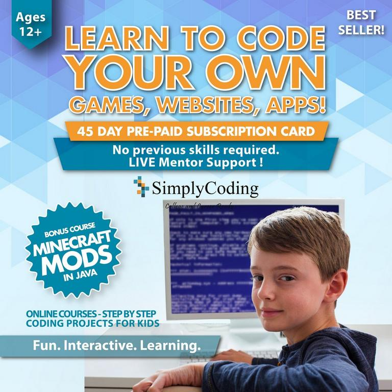 Learn to Code Your Own Games, Websites, Apps: Simple Coding Bundle eCard